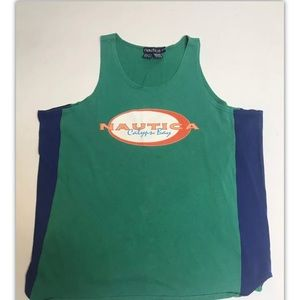Vintage rare nautica tank top double sided xl